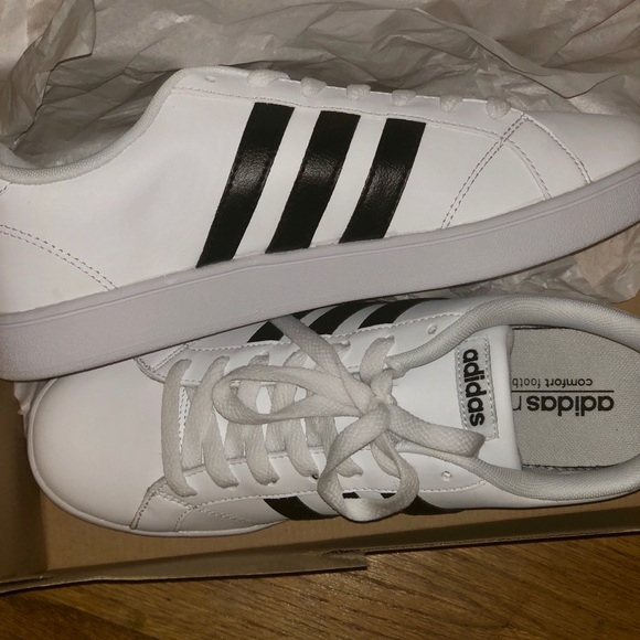 7dccef298a70 New Women s adidas neo black and white sneakers